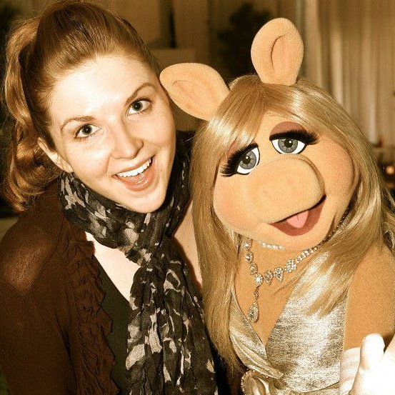 Hilary and Miss Piggy